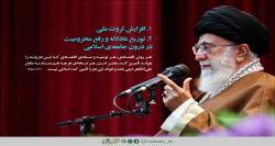 عکس نوشت| دو پایهی حیاتی و مهمِ اقتصاد اسلامی در نگاه رهبر معظم انقلاب